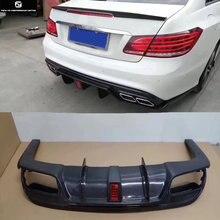 W207 C207 E260 Coupe углеродного волокна задний бампер диффузор с светодиодный свет для Mercedes Benz W207 E350 стайлинга автомобилей 10-15