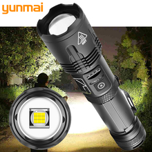 XHP100 High Quality 9-core Led Flashlight Zoomable Torch Usb Rechargeable 18650 or 26650 Battery Power Bank Function Lantern