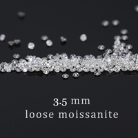 1.7mm FG Color round brilliant cut moissanite Loose Beads for jewelry making Total 1.0 carat moissanite about 50pcs
