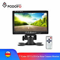 Podofo-Monitor de visión trasera de coche, pantalla de visión trasera, Monitor LCD TFT a Color para cámara de respaldo de vehículo, sistema de asistencia para aparcamiento
