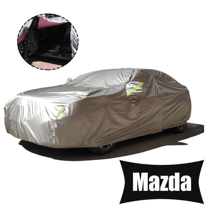 Full Car Covers For Car Accessories With Side Door Open Design Waterproof For Mazda 2 3 5 6 cx 3 cx3 cx 5 cx5  cx 7 cx7  2018-in Car Covers from Automobiles & Motorcycles