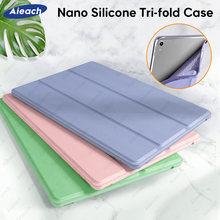 Funda de silicona de cuero PU para iPad Air 4, 3, 2, 1, Mini, 5, 11, 9,7, 6. ª, 5. ª, 10,2, 7. ª generación