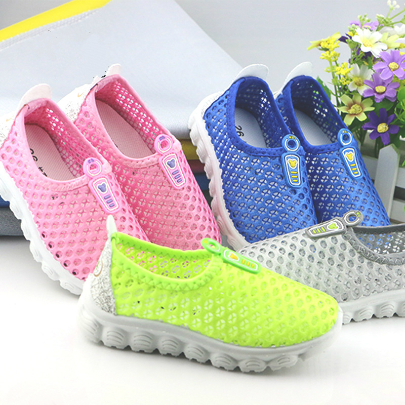 Summer Kids Shoes 2020 Fashion Mesh Casual Children Sneakers For Boy Girl Cusual Slip On Baby Breathable Light Running Shoe