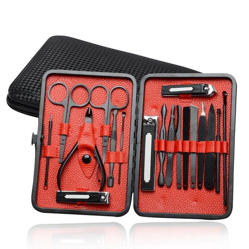 pedicure arquivo de unhas tesoura clipper manicure kit com caso