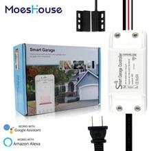 Smart WiFi Garage Door Controller Smart Life APP Remote Open Close Monitor Compatible With Alexa Echo Google Home No Hub Require