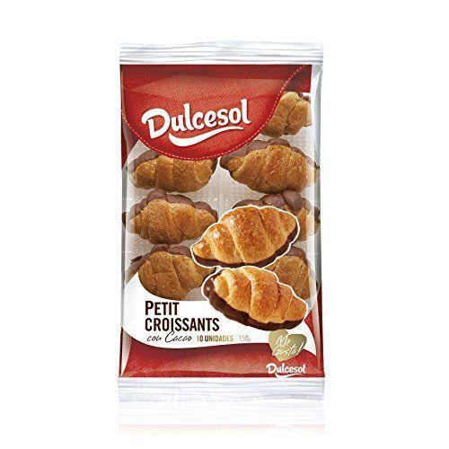 DULCESOL - Petit Croissant Bañado De Cacao Bandeja 150 Gr