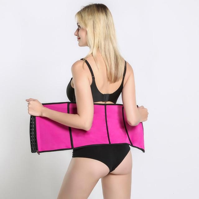 Waist Trainer Trimmer Body Shaper Tummy Shapewear Modeling Belt Cincher Girdle Slimming Shapers Corset Weight Loss Promote Sweat 4