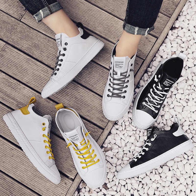 Hohe Qualität Flache Plattform Weiße Turnschuhe Herren Skateboard Schuhe Jungen Retro Schuhe Original Mode Joker Sport Schuhe