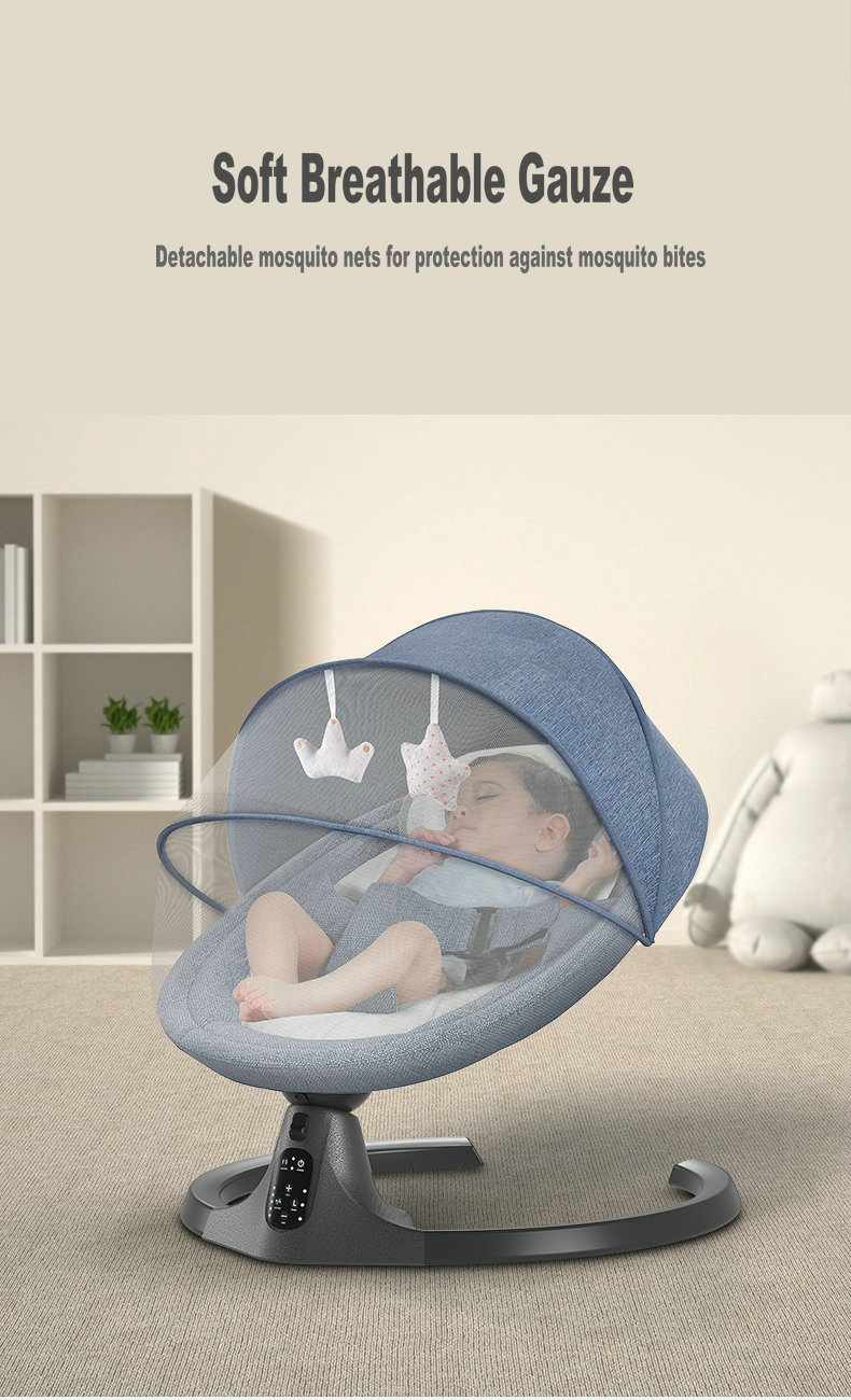 Hc199925210b040b7876cd070723f4515w Baby Swing Multifunctional Aluminum Alloy Baby Rocking Chair Electric Baby Cradle With Remote Control Cradle Rocking Chair