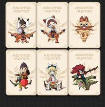 9 adet Monster Hunter Rise amiibo kilitleri kart Resent kaplan ejderha Ailu kedi NS anahtarı oyun ödül kartı NFC ntag215 etiketi kartı