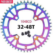 Bikes Round Chainwheel Pass quest Mountain teeth 104BCD MTB Bicycle Crankset Aluminum Chainring Titanium plating M590 M670 M780