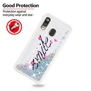 Image 4 - Fundas de teléfono Liquid Quicksand para Samsung Galaxy A40 A20 A30 A80 A90 A60 A20e Note 10 Plus M40 purpurina suave cubierta trasera de parachoques de TPU