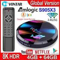 H96 Max X3 smart tv box Android 9.0 4GB RAM 32 GB/64 GB/128 GB Amlogic S905X3 TVBox 2.4G/5G WIFI BT4.0 1000M 4K odtwarzacz multimedialny H96Max