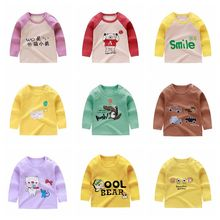 Tshirts Long-Sleeve Toddler Baby-Girls Fashion Clothing Cotton New O-Neck for Tee Letter