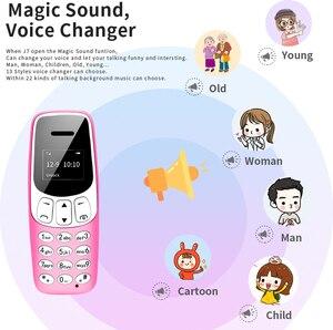 """LONG-CZ J7 мини-бар мобильный телефон 0,66 """"маленький сотовый телефон беспроводной Bluetooth звонящий FM волшебный голос громкой связи Наушники для детей"""