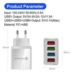Image 5 - Usb充電器急速充電3.0急速充電器電話アダプタ36ワットポータブル壁携帯電話の充電器eu米国英国プラグタブレット