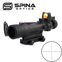 Tactical Scope ACOG 3.5x35 Rifle Scope Real Fiber Optical Sights with RMR red dot sight and killflash Lens Scope protector