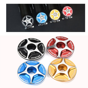 1pc Aluminum Threadless Road MTB Bike Bicycle Stem Accessories Headset Top Cap Cover elegant design solid color Cycling Bike 6(China)