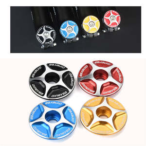 1pc Aluminum Threadless Road MTB Bike Bicycle Stem Accessories Headset Top Cap Cover elegant design solid color Cycling Bike 6