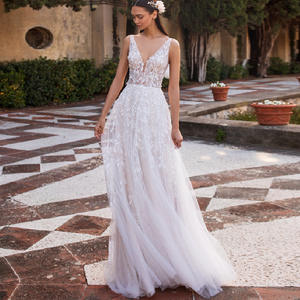 Wedding-Dresses Robe Bohemian-Style Vintage Princess Mariage Sirene Tulle Lace Sexy Beach