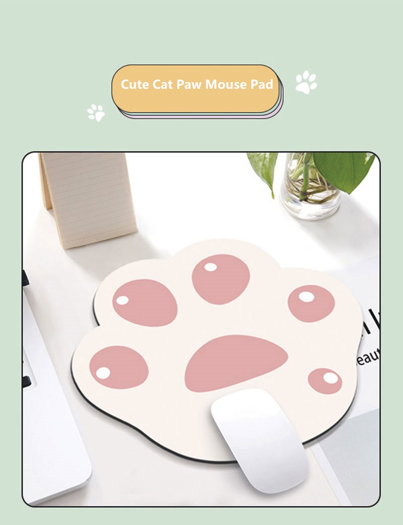 Rubber Mouse Pad Cute Cat Paw Pattern Anti-Slip Mice Comfortable Mat for Laptop PC Computer Pad Game Mousepad