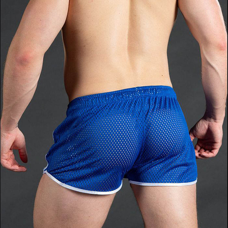 New Gym Mens Sport Running Shorts Male Quick-drying Breathable Sexy Beach Outdoor Leisure Fitness Training Pants