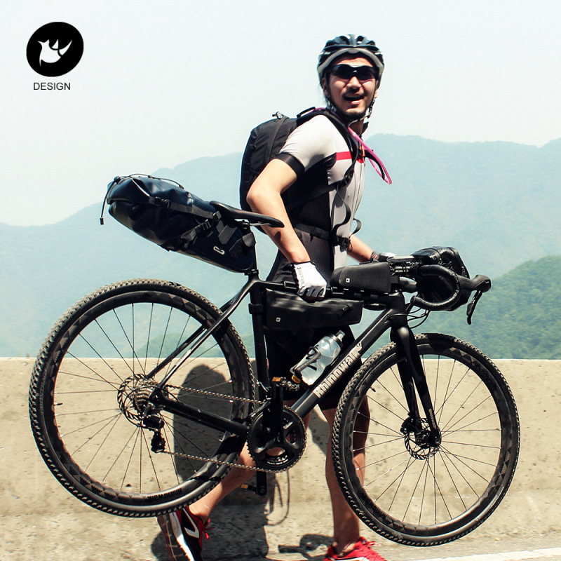 Купить с кэшбэком Rhinowalk Cycling Bike Triangle Bag Full Waterproof Front Tube Frame Bag  2.8L for Road MTB Folding Bike Storage Tool Panniers