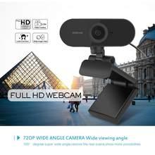 Usb câmera web 1080p 5mp foco automático computador câmera webcams embutido som-absorvente microfone 1920*1080 resolução dinâmica