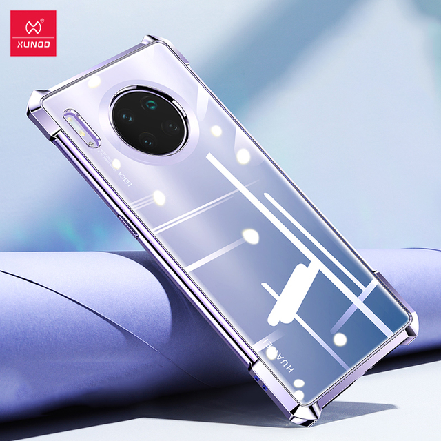 Huawei Mate30 Pro 보호용 에어백 범퍼 커버 용 XUNDD 방습 케이스 Huawei Mate 30 Pro 케이스 용 쉘 유리 렌즈 필름
