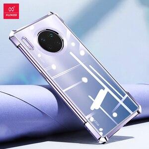 Image 1 - XUNDD odporny na wstrząsy futerał do Huawei Mate30 Pro ochronna poduszka powietrzna zderzak pokrywa Shell szklany obiektyw Film dla Huawei Mate 30 Pro przypadku