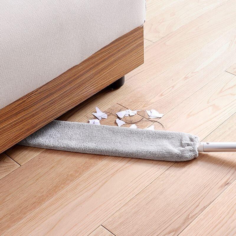 Cepillo de polvo de cabecera de mango largo cepillo de polvo Flexible para sofá Gap techo herramientas de limpieza del hogar cepillo limpieza polvo