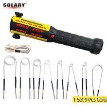 Solary kit aquecedor de indução de calor sem chama automotivo 110v 220v 1000w com 9 bobinas 1kw ferramenta de reparo do carro