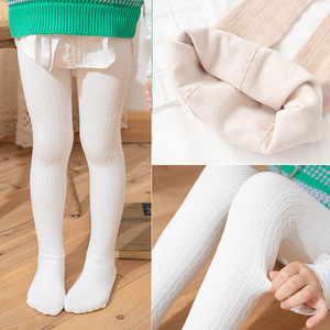 2 to 10 Years 5 Colors Autumn Winter Warm Girls Tights Fleece Lining Tights for Girls Anti-pilling Soft Child Pantyhose For Kids