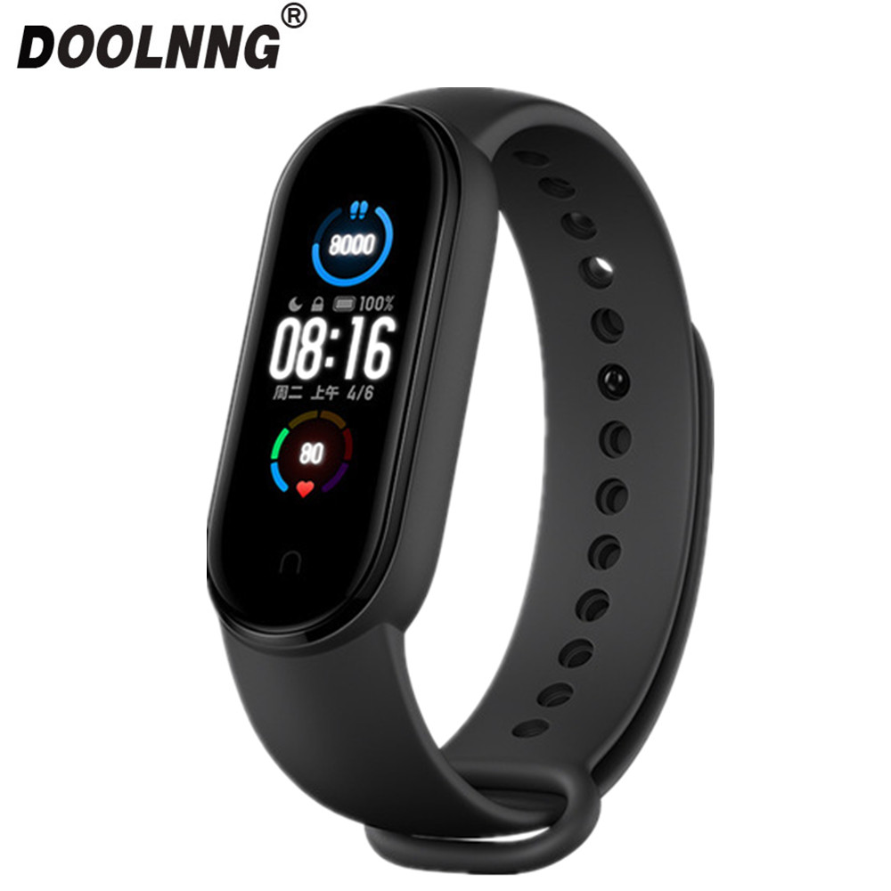 Doolnng M5 Sport Fitness tracker Smartband Smart Bracelet Blood Pressure Heart Rate Monitor Smart band Wristband Men