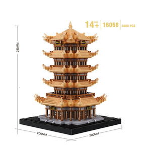 Image 2 - Balody Chinses Famous attic Architecture Diamond Building Blocks education Gifts Toys For Children