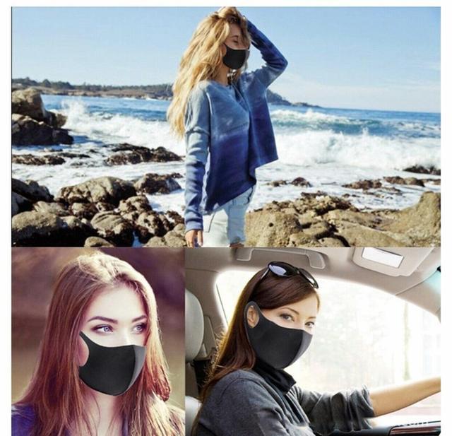 10pcs Unisex PM2.5 Mouth Mask Anti Haze Dust Mask Nose Filter Windproof Face Muffle Bacteria Flu Fabric Cloth Respirator 5