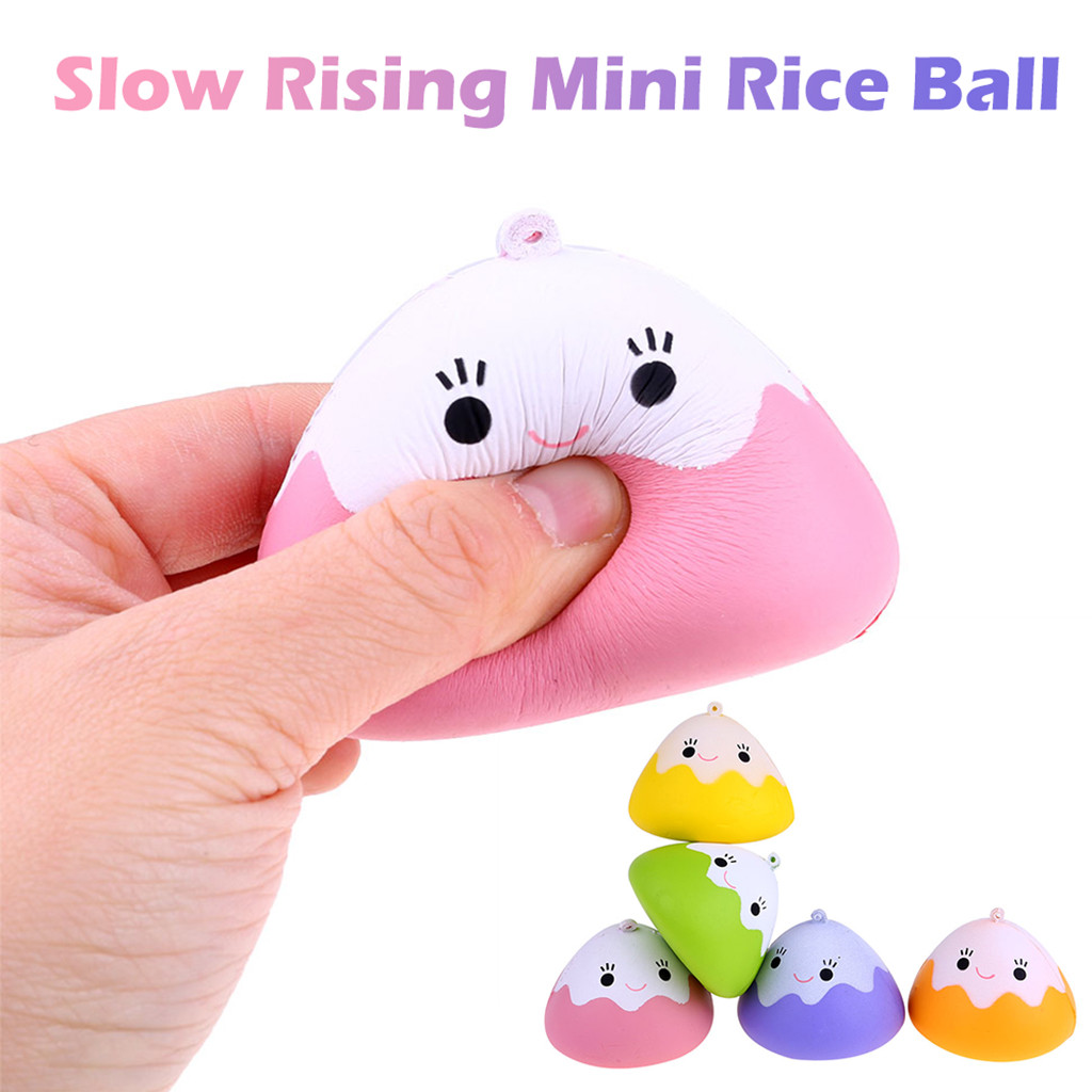 Squeeze Vent Slow Rebound Toy Simulation Dumplings Ball Stress Reliever Scented Super Slow Rising Squeeze Toy Keychain L0116