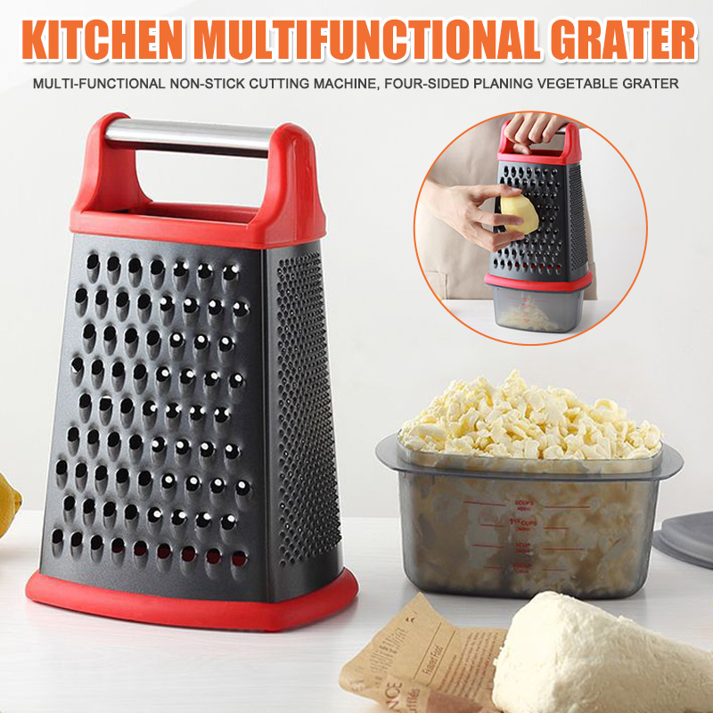 Kitchen Supplies Multi-function Non-stick Chopper 4 Sides Vegetable Grater Design Stainless Steel  PUO88