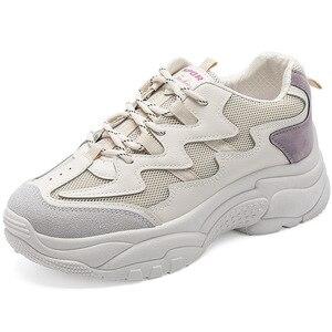 Image 5 - Zapatos de moda para mujer, nuevos zapatos de plataforma para otoño 2019, zapatos deportivos informales para mujer, zapatos transpirables de moda para mujer, tendencia salvaje, aumento