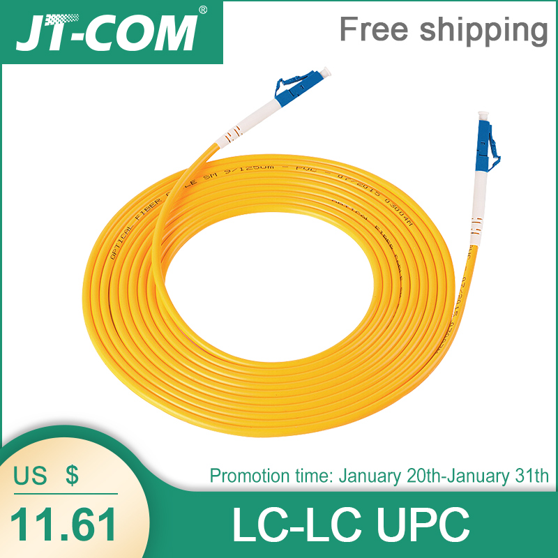 10 Pcs LC UPC To LC UPC Simplex 2.0mm PVC Single Mode Fiber Patch Cable Fiber Optic Patch Cord