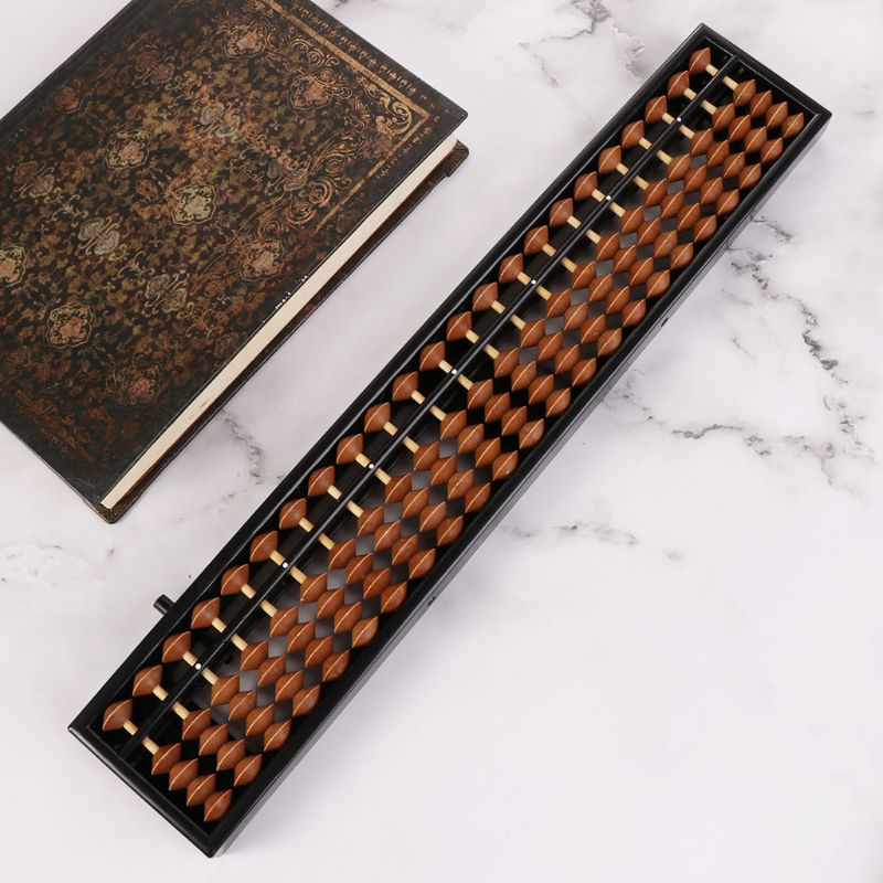Portable Chinese 23 Digits Column Abacus Arithmetic Calculating Counting Math Learning Tool For Children L29K