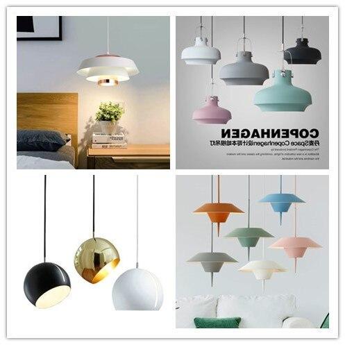 nordic pendant lights for home lighting modern hanging lamp wooden aluminum lampshade led bulb bedroom kitchen light 90 260v e27 Pendant Lights     - title=