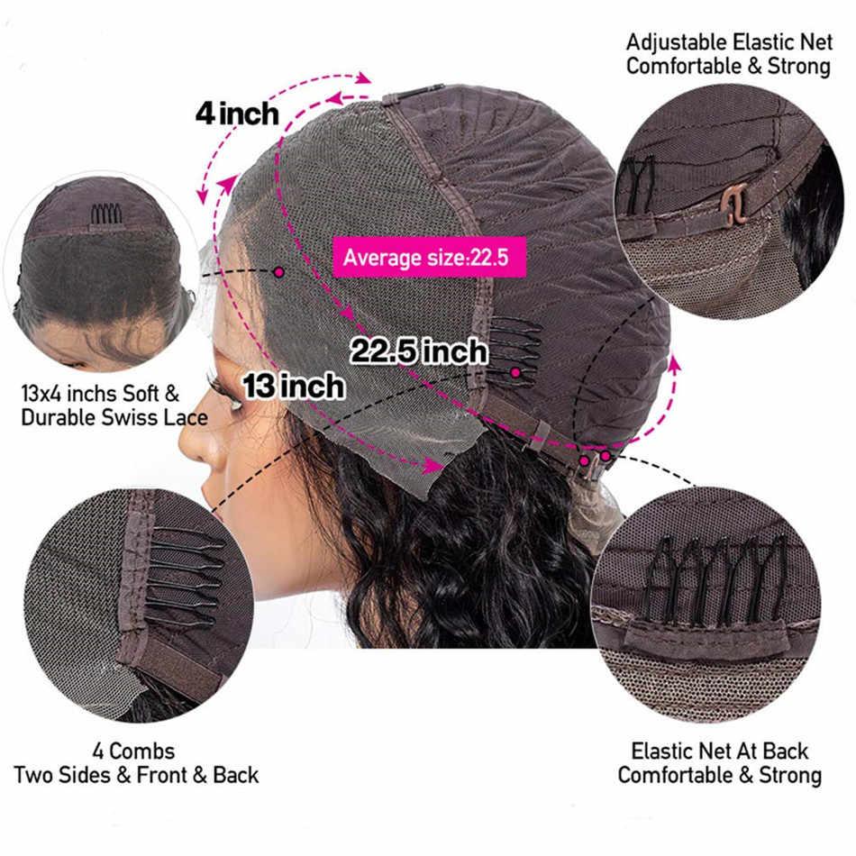 Liddy pixie corte peruca frente do laço perucas de cabelo humano 13x4 encaracolado 150% densidade não remy 100% perucas de cabelo humano frente do laço cor natural