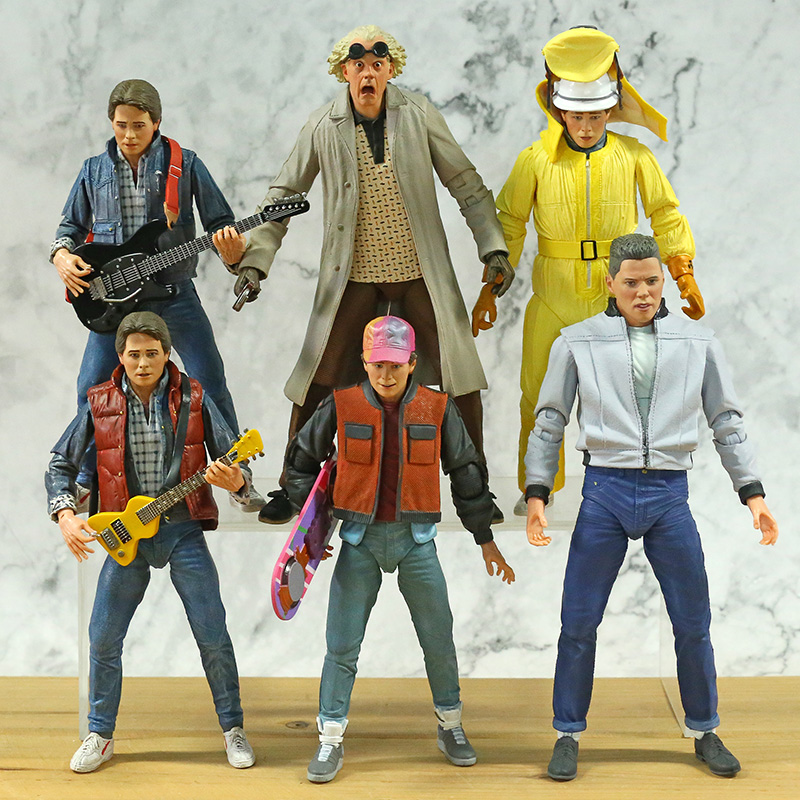 NECA Back To The Future Marty McFly Biff Tannen Dr. Brown 7'' Action Figure Joint Movable Model Brinquedos Toy