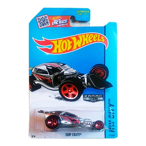 Hot Wheels Surf Crate Zamac 018 Hw City series 2015 long card image