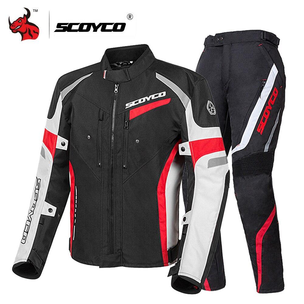 Clearance SCOYCO Motorcycle Jacket Men Motocross Jacket Moto Suit Windproof Moto Jacket Riding Jaqueta With Removeable Linner