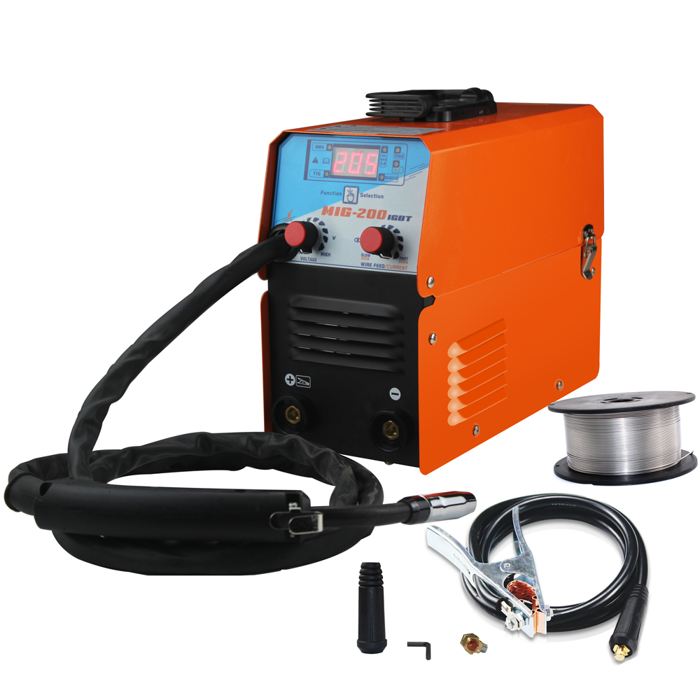 200 Welder AC220V Equipment Phase Gasless MIG 1 MMA MIG IGBT Tool Machine Welding Soldering Mini TIG Welding