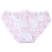 Ladies Underwear Woman Panties Sexy Lace Plus Size Panty Transparent Low-Rise Cotton Briefs Intimates lower Thong Underwear(China)