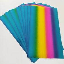 11X20 см 15 шт. Голографическая фольга горячего тиснения бумага для ламинатора теплопередачи лазерным принтером minc Фольга ламинатор minc