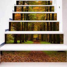 6pcs/set 3D Beach Starfish Staircase Stair Riser Floor Sticker Self Adhesive DIY Stairway Waterproof PVC Wall Decal